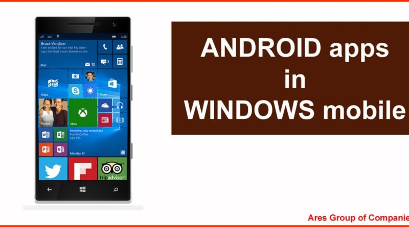 Android App use in Windows Mobile